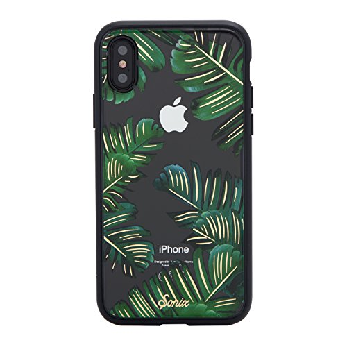 Sonix Bahama Case for iPhone X/XS [Military Drop Test Certified] Protective Palm Leaf Clear Case for Apple iPhone X, iPhone Xs