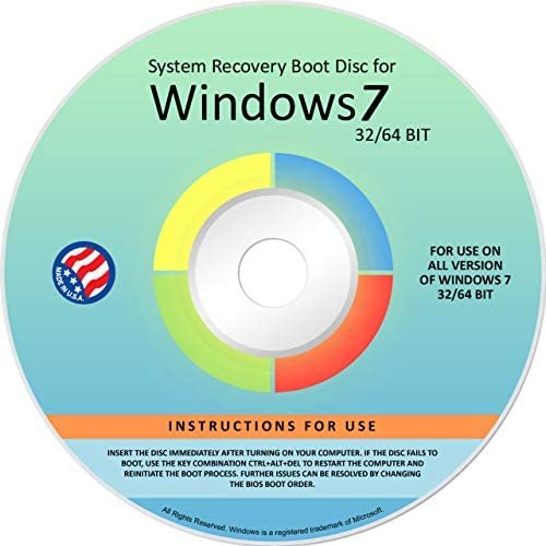 Ralix Reinstall DVD For Windows 7 All Versions 32 64 bit Recover Restore Repair Boot Disc and product image