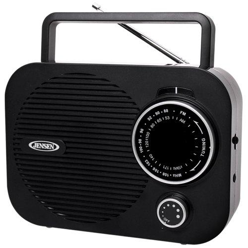 JENSEN MR-550 Portable AM/FM Radio with Aux Line-in