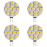 SEBSON LED Lampe, G4 3W, ersetzt 20W, 200lm, Stiftsockel, 12V DC, Leuchtmittel 110 Grad, Plastik, GU4, 2.5 W, 4er Set, 4 Einheiten