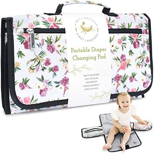 Portable Diaper Changing Pad Convenient On The Go Baby Travel Changing Pad Wipe Holder for Portable product image