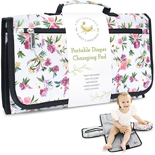 Portable Diaper Changing Pad | Convenient, On The Go Baby Travel Changing Pad | Wipe Holder for Portable Changing Mat | Portable Changing Pad for...