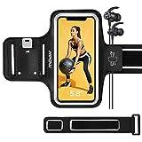 Mpow Brazalete Deportivo para iPhone 12 Mini / 8 hasta 5,8 Pulgadas, Resistente al Sudor, Pulsera con Banda de extensión, Brazalete Deportivo para Correr, Correr, Caminar, Ciclismo, etc.