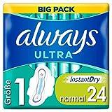 Always Ultra Normal Damenbinden mit Flügeln Gr.1 Big Pack (24 Stück) ultra dünn und super...