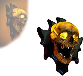 LED Skull Lamp Night Light, 3D Skull USB Wall Light Wall Decoration, Halloween Resin Pendant Crafts Home Decorations