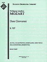 Don Giovanni, K.527 (Act II, Canzonetta (Serenade): Deh vieni alla finestra (baritone)): Bass part (Qty 7) [A2932]
