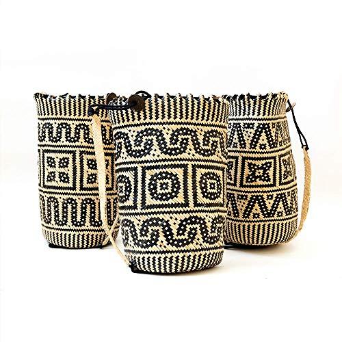 Anjat Rattan Boho Bali Rucksack Handgemachte Korb Tasche Borneo Bag