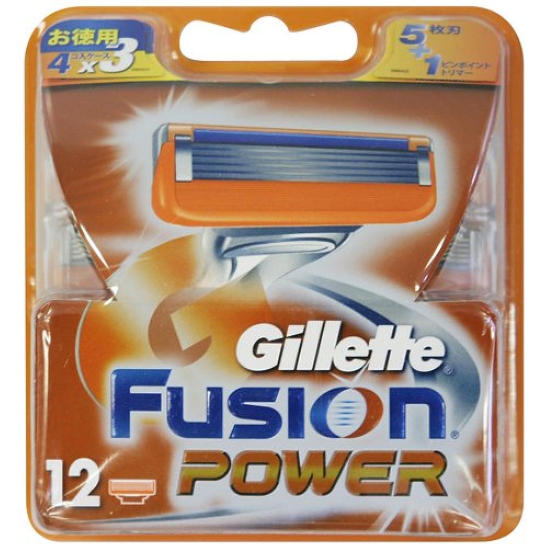 ジレット フュージョン5+1パワー 専用替刃 12B