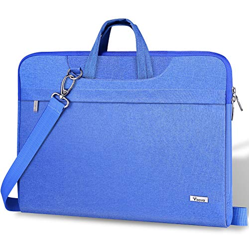 Voova Laptop Bag 17 17.3 inch, Waterproof Laptop Case Sleeve with Shoulder Straps & Handle, Computer Briefcase Cover Compatible with MacBook/Acer/Asus/Dell- Light Blue