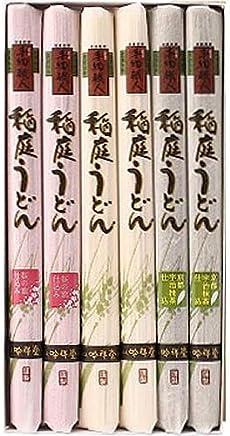 手綯職人稲庭うどん I-35 彩 ギフト 150g×6束(白×5束:桜×2束:抹茶×2束)