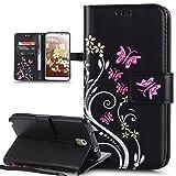 Coque Galaxy Note 3,Etui Galaxy Note 3,Peint coloré Embosser Papillon fleur Housse...