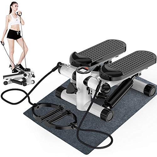 MINI Stepper Con bande di resistenza Tapis roulant durevole e sicuro con pedali comodi Attrezzatura per il fitness familiare - home trainer (colore : Nero)
