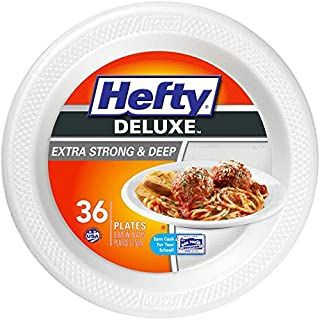 Hefty Deluxe Large Round Foam Party Plates, 8 Pack 36 (288 Total)