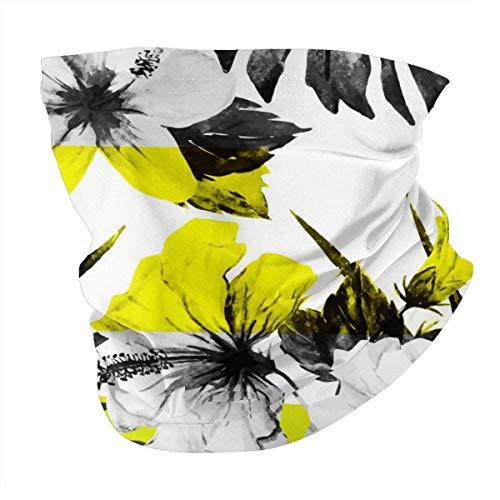 Verschiedene Kopftuch, personalisierbar, Outdoor-Stirnband, Sport-Kopfbedeckung, graue Blumen mit gelben Tönen.