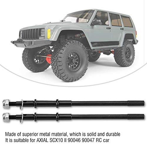 Dilwe 2 Stücke RC Auto Antriebswelle, Metall Hinterachse Dogbone Antriebswelle Zubehör für AXIAL SCX10 II 90046 90047 Fernbedienung Auto