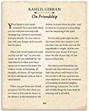 Kahlil Gibran - On Friendship - 11x14 Unframed Typography Book Page Print - Great Gift for Best Friends, Wedding and Anniversary Under $15