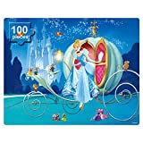 NEILDEN Disney Puzzles in a Metal Box 100 Piece Jigsaw Puzzles for Kids Ages 4-8 Puzzles for Girls and Boys Great Gifts for Children (Cinderella)