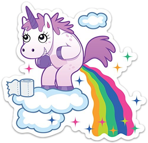 Unicorn Poop Funny Sticker Laptop Decal Rainbow Unicorn Farts Large 5