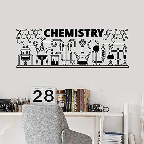 WERWN Calcomanías de Pared educativas fórmulas de química Herramientas de química Pegatinas de Vinilo Laboratorio de Ciencias Aula decoración de Interiores Papel Tapiz