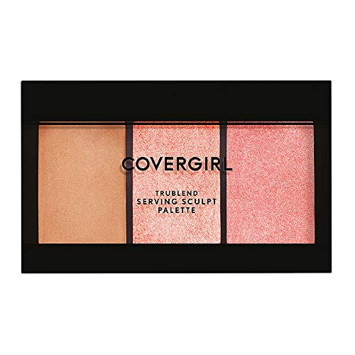 COVERGIRL TruBlend Serving Sculpt Contour Palette, Bloom Babe 500, 0.22 Ounce