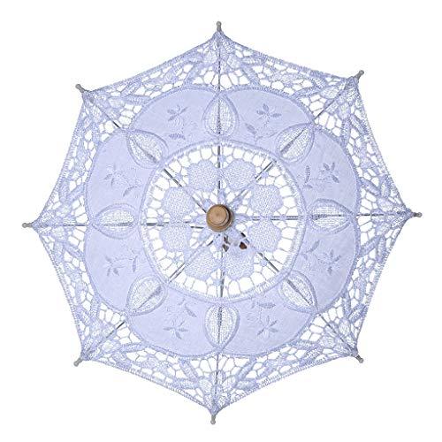 Yangge Yujum Lace Holzgriff Transparent Langstieligen Dekoration Hochzeit Regenschirm Fotografie Prop-Tanz-Performance-Tool