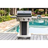 Member'sMark 3-Burner Gas Grill with Stainless Steel Foldable Side Shelves