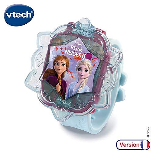 Vtech 80-518805 - Orologio interattivo di Elsa, motivo: Frozen, multicolore, versione francese