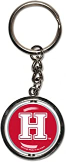 Harvard University Spinner Key Ring, Chrome Metal with Domed Graphics, 1 Spinner