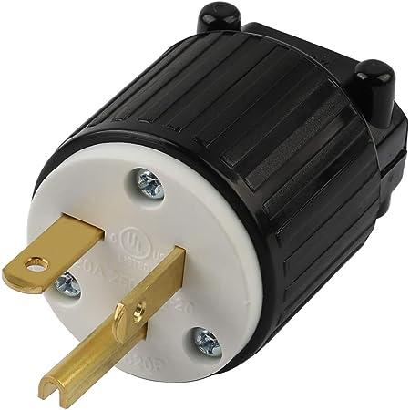 20A 125V AC NEMA 5-20 OCSParts 5-20P Grounding Plug 2 Pole 3 Wire ...