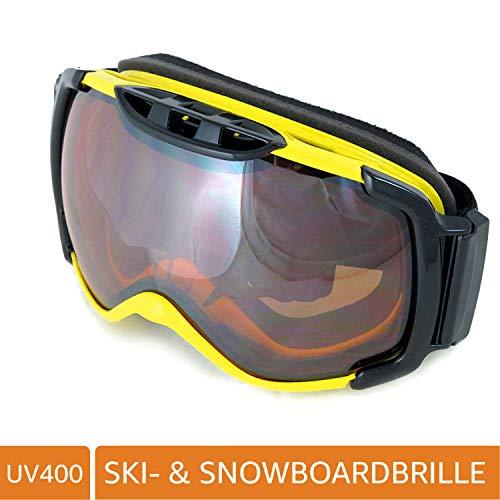NAVIGATOR OMIKRON Skibrille Snowboardbrille, Unisex, Unisize, div. Farben (GELB)