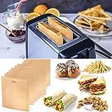 Huanchenda, set da 20 sacchetti per tostapane riutilizzabili, resistenti al calore, antiaderenti e lavabili in lavastoviglie