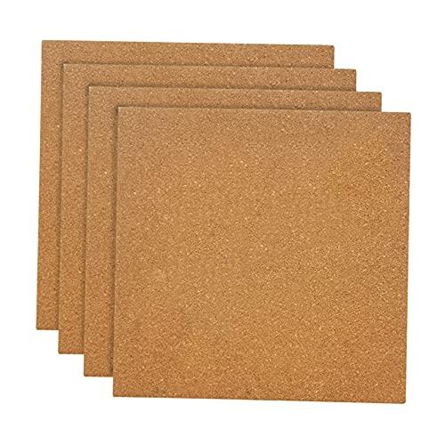 Baoblaze 4 piezas de tablones de corcho-Tablón de Anuncios autoadhesivo DIY, tableros de corcho grueso de 12'x 12'-azulejos de corcho para