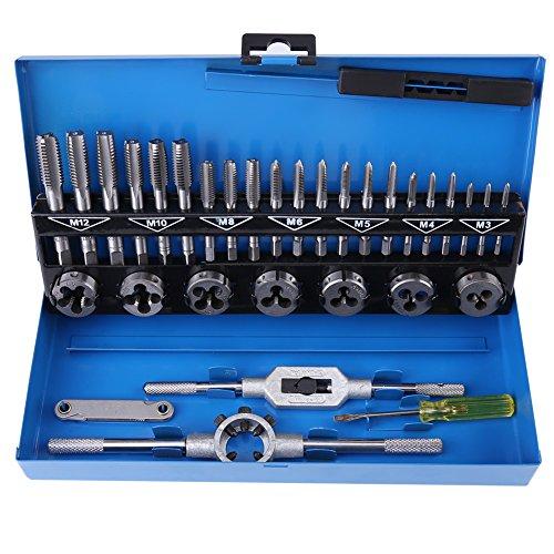 FAMKIT 32 unidades M3-M12 calibre calibre alambre de aleación de acero tocar y juego con llave herramientas de mano