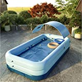 Family Lounge Pool Inflatable Swimming Pool, Inflatable Lounge Pool for Kiddie, Adults, Easy Set Swimming Pool for Backyard, Summer Water Party