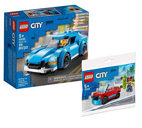 Collectix Lego 60285 - Juego de carrito deportivo Lego City Skateboarder 30568 + bolsa de plástico Lego City Skateboarder 30568, set de regalo a partir de 5 años
