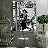WAFENGNGAI Actores famosos españoles imagen dormitorio sala de estar sofá arte de la pared decoración del hogar negro blanco calidad lienzo pintura cartel decoración de la pared-50x70 cm sin marco
