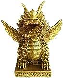 Chino Un Par De Estatuas Qi Lin / Chi Lin / Kylin Adornos Chinos Pequeños Grandes Decoración Figuras De Prosperidad Latón Resina Madera Piedra Oficina En Casa Esculturas De Regalo De Negocios Símbolo