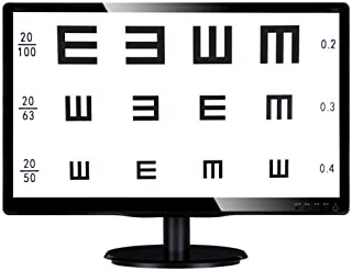 Huanyu 19-inch LCD Optical Digital Visual Acuity Chart Eye Charts Optometry Tester Projector 100-240V with Remote