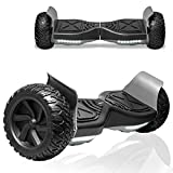 TPS All-Terrain Off-Road Hoverboard 8.5' Wheels Electric Self Balancing Scooter Hover Board for Adults and Kids Built-in Bluetooth Speaker and LED Lights UL2272 Certified (Black)