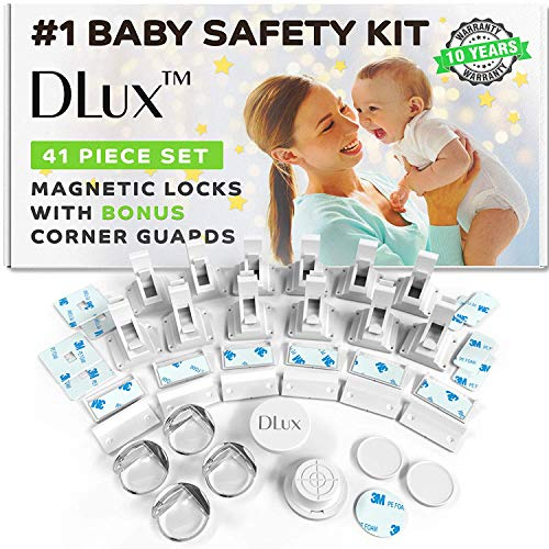 DLux Magnetic Cabinet Locks Child Safety 41-Piece Kit