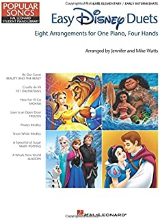 Easy Disney Duets - Popular Songs Series: Late Elementary/Early Intermediate Level (Hal Leonard Student Library: Popular Songs)
