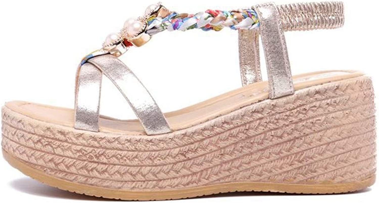 F1rst Rate Fashion Summer Beach Sandals for Women Wedge Open Toe Sandal Platform Flat