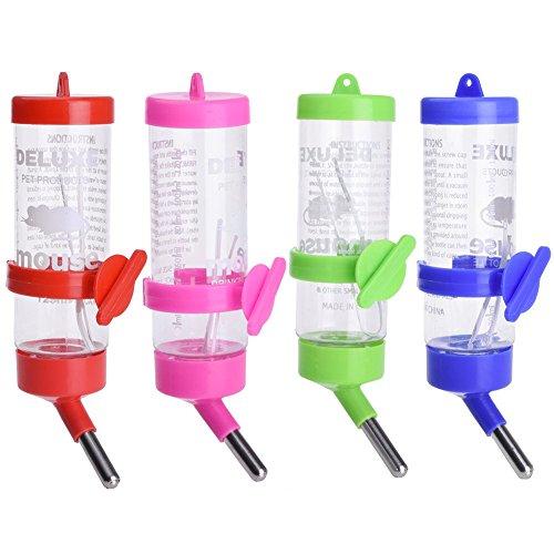 Ogquaton Plastikreise-Wasser-Brunnen-Trinkflasche-kleines Tierpapageien-Hamster-Kaninchen neu freigegeben