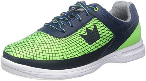 Brunswick Frenzy Bowling-Schuh für Herren, Marineblau/Grün, 10.0