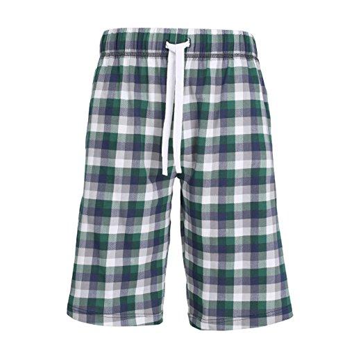 TOM TAILOR Herren Bermuda, Kurze Hose für die Nacht und Freizeit Baumwolle, Single Jersey, grün, Bedruckt 52