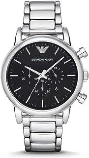 Emporio Armani Classic Men'S Black Dial Stainless Steel Band Watch Ar1894, Quartz, Analog