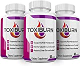 (3 Pack) Toxiburn Management Pills Liver Cleanse Diet Capsules Supplements Reviews Toxi Advanced Pills (180 Capsules)