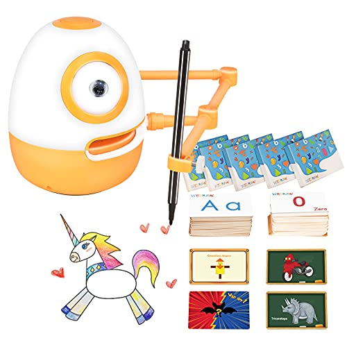 WEDRAW Toddler Learning Educational Toys for 3 4 5 year old kids,Interactive Talking Drawing Robot Teach Math Sight Words Preschool Kindergarten Learning Activities Toy Gift for Girls and Boys Age 3-5