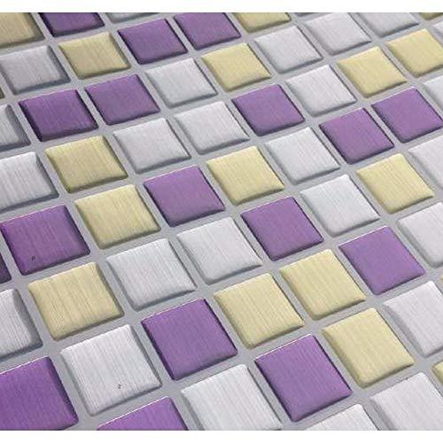 PMSMT 2019 Nueva Tendencia de Vinilo 3D Mosaico de Azulejos de Pared pelar y Pegar Autoadhesivo Protector contra Salpicaduras DIY Cocina baño hogar Pegatinas de Pared