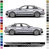 AutoDress – Juego de pegatinas para Audi A4 en color a elegir (negro brillante)